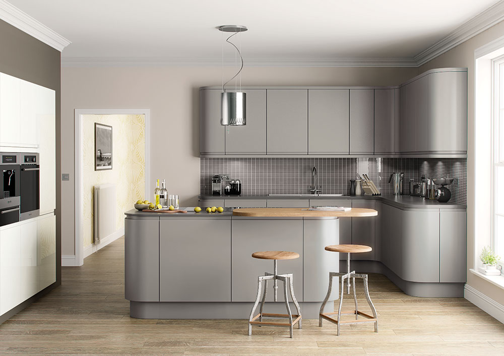 Lucente Hand Painted Silver Grey