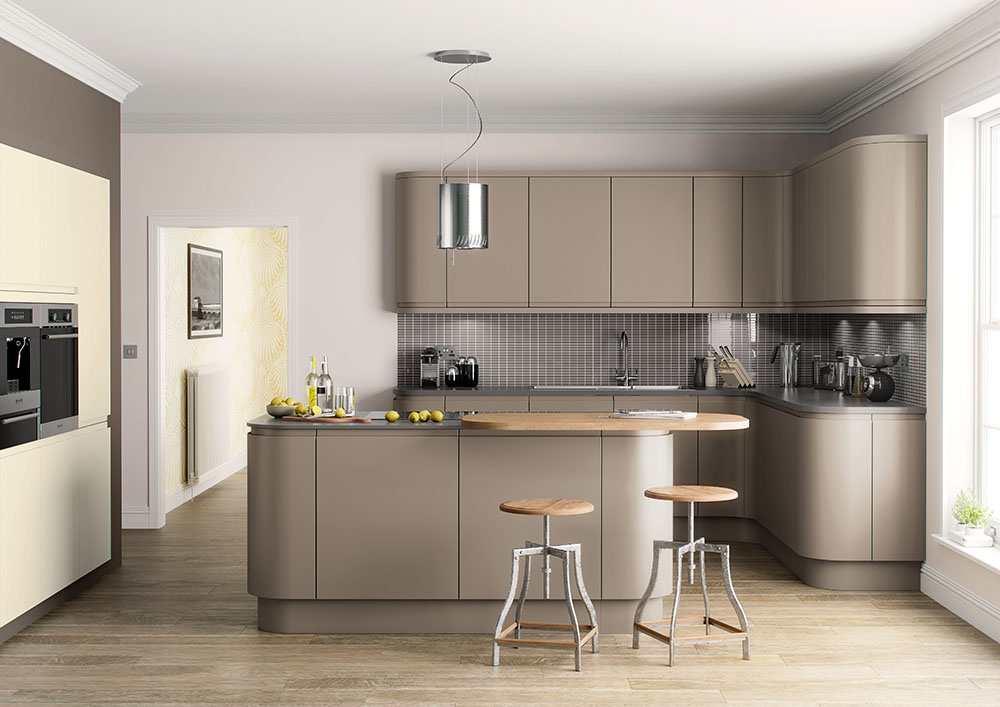 Lucente Hand Painted Stone Grey